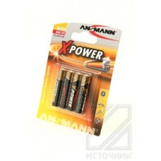 ANSMANN X-POWER 5015653 LR03 BL4 Элемент питания LR03