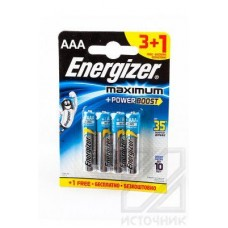 Energizer Maximum+Power Boost LR03 3+1 шт BL4 Элемент питания LR03