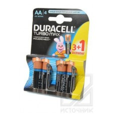 DURACELL TURBO MAX LR6 3+1шт BL4 Элемент питания LR6