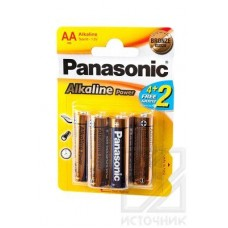Panasonic Alkaline Power LR6APB/6BP 4+2F LR6 4+2 шт BL6 Элемент питания LR6