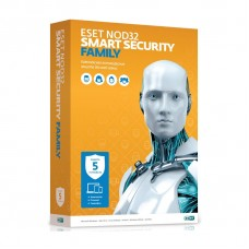 ПО Eset NOD32 Smart Security Family - лицензия на 1 год на 5ПК (NOD32-ESM-NS(BOX)-1-5)